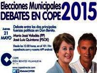 Debate en COPE de Don Benito Mª Josefa Valadés y Jose Luis Quintana
