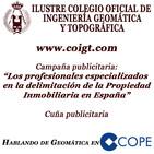 Cuña Campaña 'Los profesionales especializados en la Delimitación de la Propiedad Inmobiliaria en España' COPE Valencia