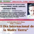 Religión, espiritualidad y medio ambiente. Christian Ortiz (MADRE TIERRA - EVENTO GLOBAL)